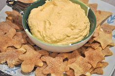 Pumpkin dip and cinnamon sugar chips ~ making this for a baby shower Saturday!!