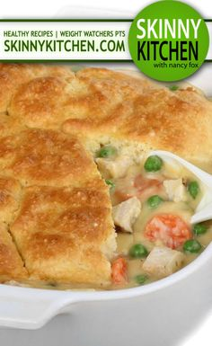 Enjoy this fabulous, comfort food classic, guilt-free! Each serving has only 266 calories, of fat and 7 Weight Watchers POINTS PLUS!skinnykitchen… Source by Poulet Weight Watchers, Plats Weight Watchers, Weight Watchers Chicken, Weight Watchers Meals, Skinny Recipes, Ww Recipes, Cooking Recipes, Healthy Recipes, Dinner Recipes
