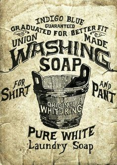 Washing Soap label to print off