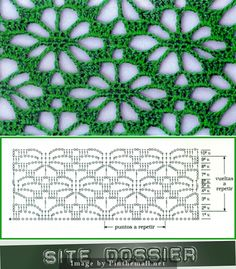 Best 12 Spider design worked continuously as lace ground stitch, not just on the edge or as isolated motif ~~ Crochet Scarf Diagram, Crochet Motifs, Crochet Stitches Patterns, Crochet Chart, Filet Crochet, Crochet Doilies, Knitting Patterns, Crochet Patron, Diy Crafts Crochet