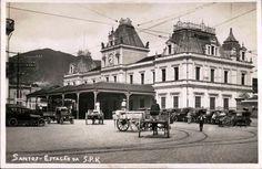 Postal da década de 1920, da Estação da São Paulo Railway. Autoria Desconhecida - Acervo Sampa Histórica