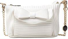 MASQUENADA, Damen Handtaschen, Clutches, Unterarmtaschen, Umhängetaschen, 20,5x14,5x2,5 cm (B x H x T), Farbe:Weiß