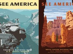 Beautiful 'neo-vintage' posters promote U.S. national parks in the style of the 1930s!