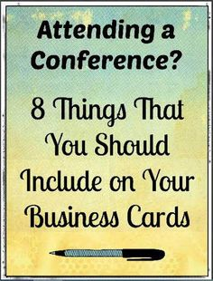 Business cards are often-overlooked little keys to networking, but they serve a valuable purpose at conferences.