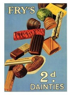1930s Advertisements | 1930s ad for Fry's Dainties candies - Found in Mom's Basement