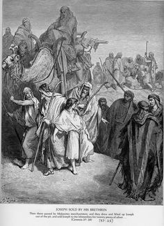 Gen 37 - Joseph Is Sold by His Brothers. Gustave Doré