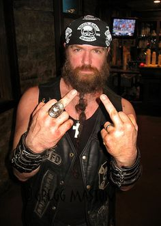 ZAKK WYLDE  musician, songwriter, multi-instrumentalist and occasional actor who is best known as the former guitarist for Ozzy Osbourne, founder of the heavy metal band Black Label