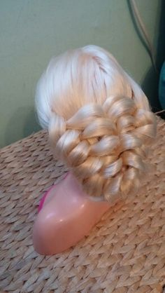 Banded Puff Braid Updo