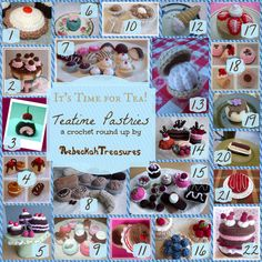 Teatime Pastries Crochet Pattern Round Up by @beckastreasures
