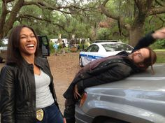 """Behind the scenes of #SleepyHollow Ep 202, """"The Kindred."""" And yes, making the show is this much fun."""