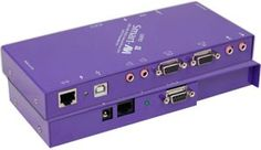 Buy Cat5 Audio & VGA Video Extender with RS232 supports two screen display.