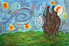 Spot of Color: 6th Grade Van Gogh Interpretations