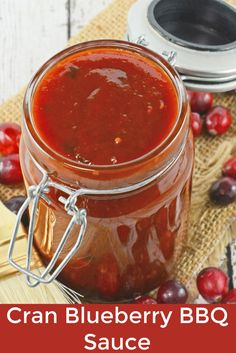 Cran Blueberry BBQ Sauce is a zesty sauce for grilled chicken, seafood or even vegetables. Sweet with a little bit of tang and a spike of coffee.