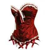 Bslingerie Womens Brick Red Classic Ribbon Satin Boned Corset (S) - #christmas #christmasdecorations #christmaslights #christmastrees #christmasornaments -   The item includes the corset and matching panty. Size from US size S to XL. The front part i