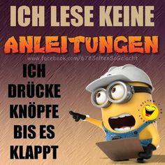 Happy Minions, Minion S, Funny Minion, True Quotes, Best Quotes, Funny Quotes, Funny Buttons, Tabu, Just Do It