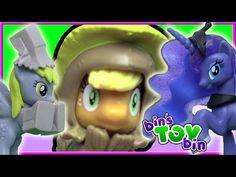 NIGHTMARE NIGHT! Princess Luna, Derpy, Applejack & MORE My Little Pony Mini Figures   Bin's Toy Bin - YouTube
