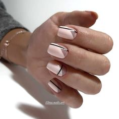 Cute Nail Designs for Short Nails You Definitely Need to Try - Gif Life Minimalist Nails, Cute Nail Designs, Acrylic Nail Designs, Nail Art Pastel, Nail Pink, Cute Nails, Pretty Nails, Hair And Nails, My Nails