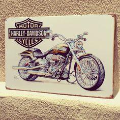 Placa de Metal Harley Davidson Motor Cycles    Enviamos para todo o Brasil faça o pedido pelo Whatsapp 17992840763 conheça nosso site www.domgato.com ou nos visite na Loja Física: Av Antônio Tavares Pereira Lima 595 - São José do Rio Preto - SP CEP: 15061-220. (em Dom Gato)
