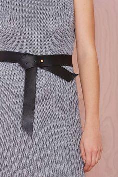 B-Low The Belt Ribbon Leather Belt - Accessories   Belts
