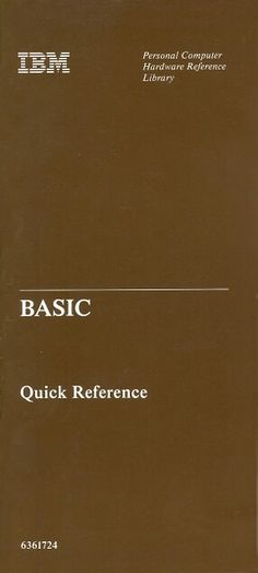 IBM BASIC quick reference