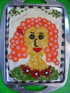 CON GORRITO Y DELANTAL: Reto Puntillismo Food Artists, Plastic Cutting Board, Diy, Pointillism, Tutorials, Bricolage, Do It Yourself, Homemade, Diys