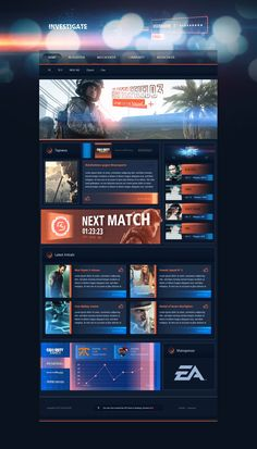 Really Unique website design with strong elements - Investigate eSport Design