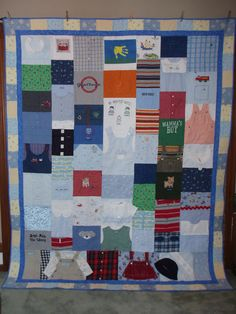 Full Size Quilt made from baby clothes  by BarbMalmTshirtQuilts, $438.00