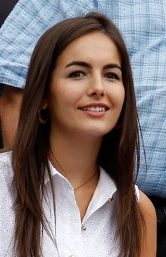 Camilla Belle Layered Cut - Camilla Belle wore her hair down in a stylish layered cut while watching the U.S. Open.