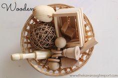 Montessori infant materials...Treasure Baskets...littleorchardmontessorischool.com