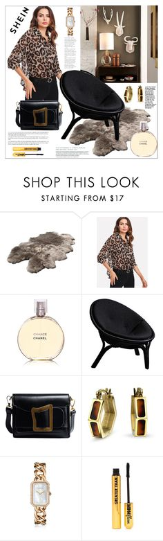 """""""Shein. Leopard print blouse"""" by natalyapril1976 ❤ liked on Polyvore featuring Chanel, Bling Jewelry and Nasty Gal"""