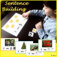 Sentence Building Activities for Speech Therapy Speech Activities, Language Activities, Educational Activities, Classroom Activities, Teaching Resources, Teaching Ideas, Autism Resources, Classroom Ideas, Kindergarten