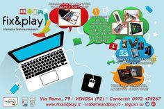 CLIENTE: Fix&Play di Giuseppe Dinichilo  LAVORO: Progettazione Grafica e Stampa Manifesto