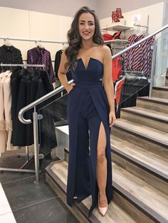 6 jun this pin was discovered by samara nascimento. Farewell Dresses, Gala Dresses, Dress Outfits, Cute Outfits, Prom Jumpsuit, Girl Fashion, Fashion Outfits, Fashion Design, Designer Jumpsuits