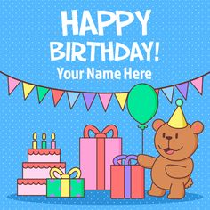 Write Your Name On Birthday Cards