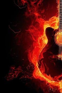 Free stock photo of music, fire, guitar, heat