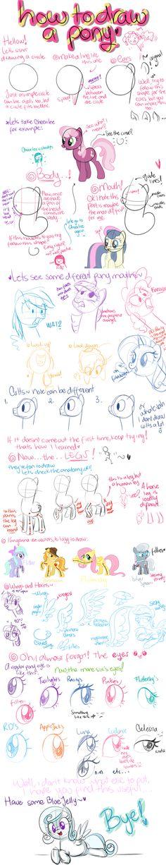 How to draw a pony by CosmicPonye