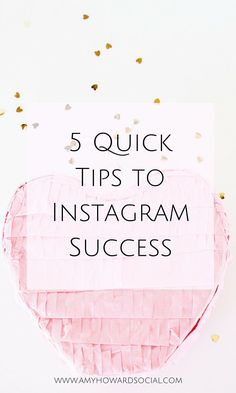 Want to quickly revamp your Instagram account? Take a peek at these 5 quick tips to Instagram Success that will quickly get you on the right track!