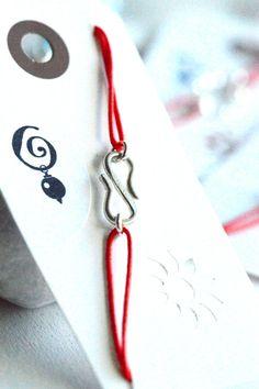 Infinity Bracelet Make a Wish Bracelet Red Cord by AnnesJewellery