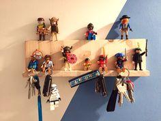 DIY Schlüsselbrett Playmobil