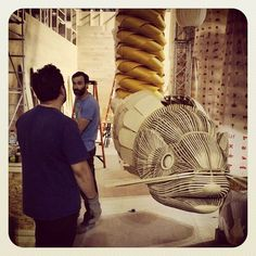 Making of Euroluce 2015 #LzfEuroluce instagram.com/lzflamps Fish Lamp, High Art, Hanging Chair, Wicker, Restaurant, Sculpture, Lighting, Interior, Instagram