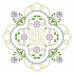 candlewicking quilt patterns | Candlewicking Quilt Block embroidery design