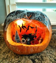 from utah with love pumpkin diorama halloween - Halloween Diorama Ideas