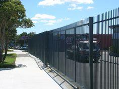 Get Gates & Fence It - Security Fence Sliding Gate, Fences, Gates, Commercial, Sidewalk, Industrial, Picket Fences, Sliding Door, Iron Fences