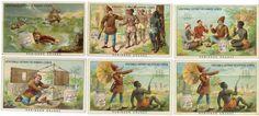 1883/1885 - COMPAGNIE LIEBIG - 70 x 108 mm - ROBINSON CRUSOÉ. Série complète des 6[...]   Auction.fr