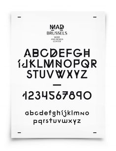Pam & Jenny [Nathalie Pollet] | 'MAD Brussels' identity & typography [2012]