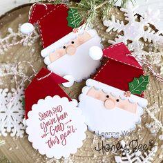 O'Neall Girl Studio: 25 Days of Christmas Tags with Honey Bee Stamps 25 Days Of Christmas, Christmas Post, Christmas Gift Tags, Xmas Cards, Christmas Ideas, Christmas Tags Handmade, Gift Cards, Honey Bee Stamps, Christmas Gingerbread House