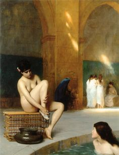 Jean-Leon Gerome. Love this reminds me a little bit of the Korean women's spa we have in Tacoma, a little slice of Heaven on earth.