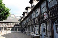Aitre Saint-Maclou, Rouen: former ossuary and cemetery turned regional art school.