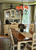 Fancy French Country Dining Room Decor Ideas (32)