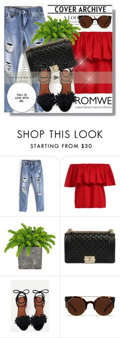 """Romwe !!"" by dianagrigoryan ❤ liked on Polyvore featuring Quay"